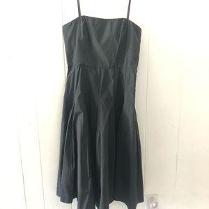 BCBG Maxazria black strapless dress with taffeta